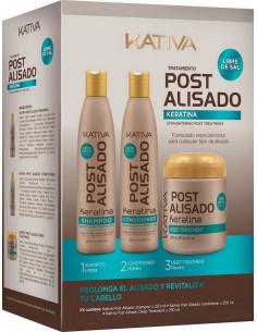 Pack Post Alisado Keratina 3 pasos Kativa