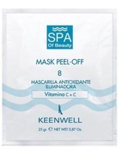 Mascarilla Peel Off antioxidante nº8 sobre monodosis Keenwell