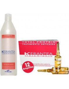 Kerantea pack 12 amp anticaída + champú proteínas
