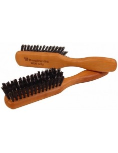 Cepillo Men pequeño de madera cerdas jabali barba Regincos