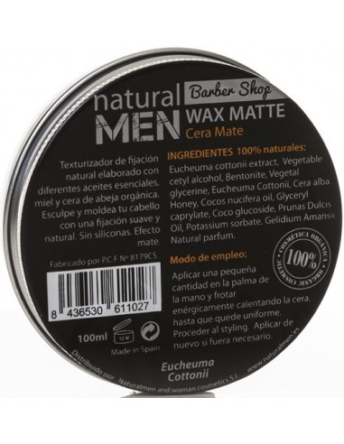 Cera mate Styling Natural Men