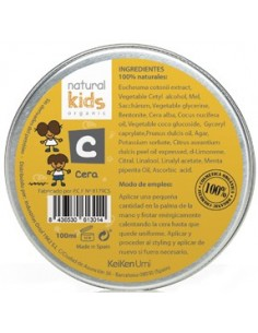 Cera mate orgánica styling wax Natural Kids