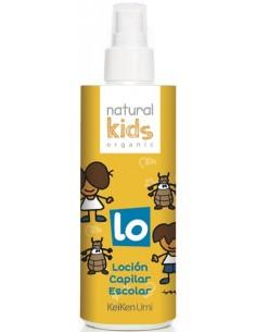Loción capilar escolar orgánica repelente de piojos Natural Kids