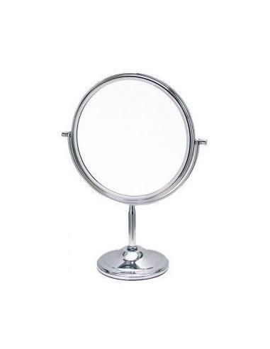 Espejo metálico con pie 19 cm normal y 5 dioprías