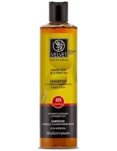 Champú de oliva cabello teñido Velvet Natural