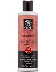 Acondicionador de uva brillo y volumen Velvet Natural