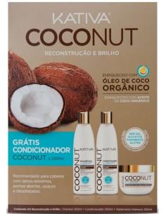 Coconut pack duo + acondicionador 250 ml Kativa