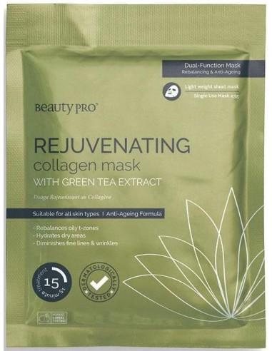 Mascarilla Rejuvenating rejuvenecedora colágeno y té verde Beauty Pro