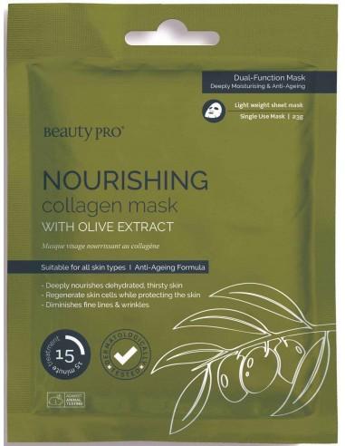 Mascarilla Nourishing nutritiva colágeno y oliva Beauty Pro