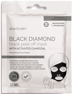 Mascarilla peel off Black Diamond carbón Beauty Pro