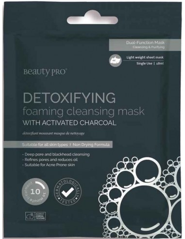 Mascarilla Detoxifying carbón y espuma Beauty Pro