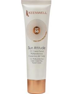 Protector solar facial crema correctora del color SPF 50 Keenwell