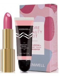Core Beauty Kit Keenwell (barra de labios 02 + iluminador)