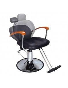 Silla reclinable hidráulica negra Eurostil