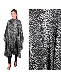 Capa para corte de nylon leopardo blanco Eurostil