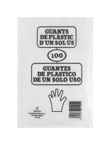 Bolsas 100 guantes de plastico monouso Eurostil