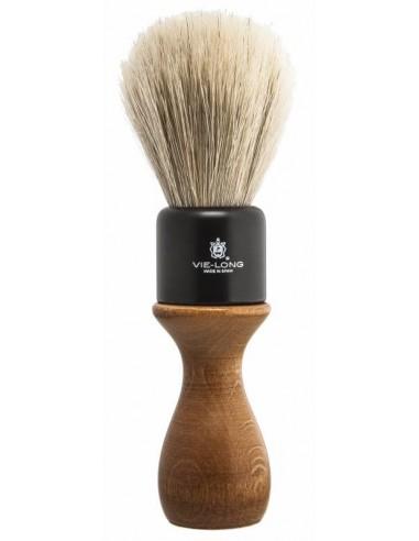 Brocha barbera de pelo de caballo con mango de madera Vie-Long