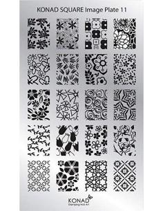 Placa de diseño rectangular Konad