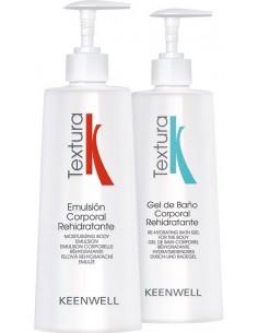 Pack textura: emulsión corporal + gel de baño Keenwell