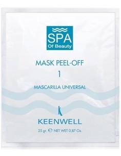 Mascarilla Peel Off universal nº 1 monodosis Keenwell