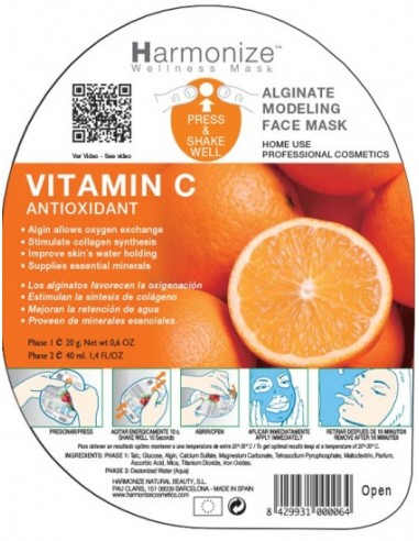 Mascarilla alginatos vitamina C Harmonize