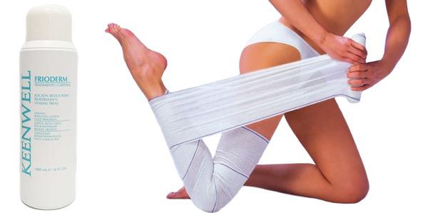 Luce piernas con el método de las vendas frías